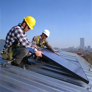 Solar panel installation low
