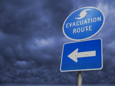Hurricane sign iStock_000003649812XSmall choicegraphx