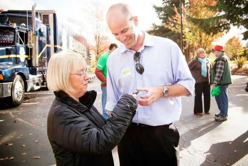 Mike Brune and Patty Murray