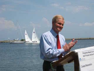 Nelson applauding with sailboats 4-20-12