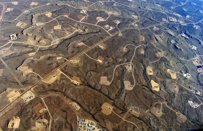 Fracking-pads
