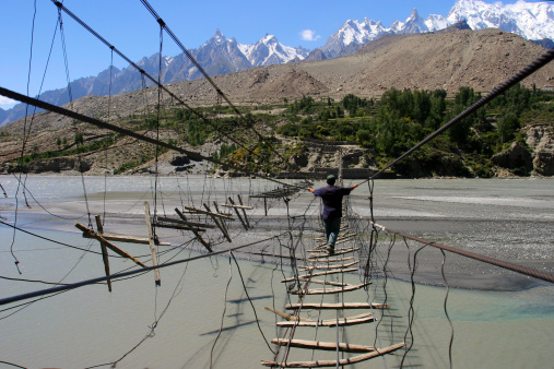 Hussaini hanging bridge scariest bridges