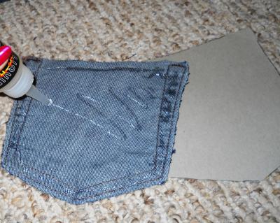 Glue pocket to backing