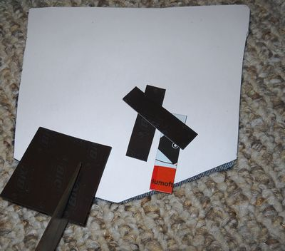 Cut and glue magnets