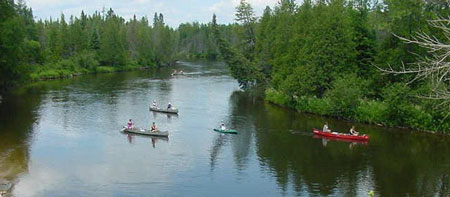 Canoeing-the-Au-Sable