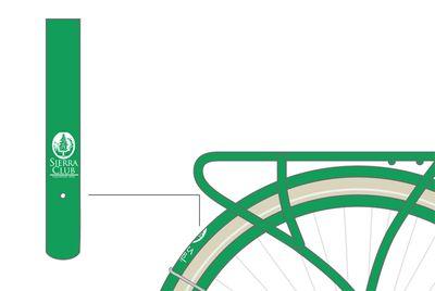 Close-up view of Sierra Club bike