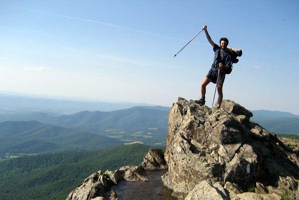 Sam Maron hiking