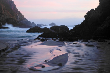 Pfeiffer Beach purple sand Big Sur California weird beaches