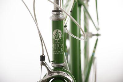 Close up view of Sierra Club bike