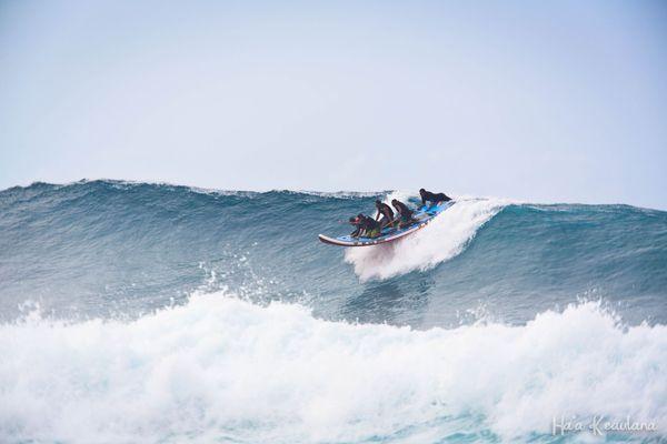 Brian keaulana surfing