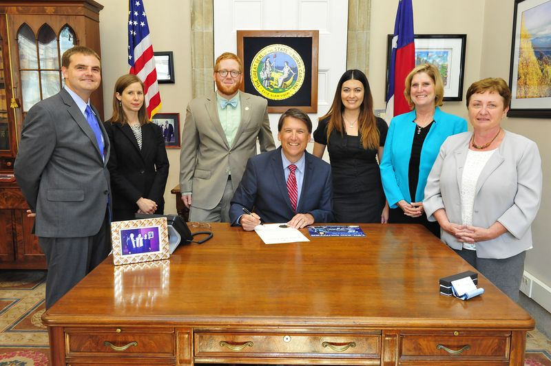 NC solar month signing
