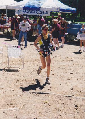 Ann Trason runs Western States