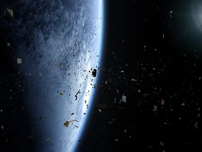 Space junk litters low Earth orbit