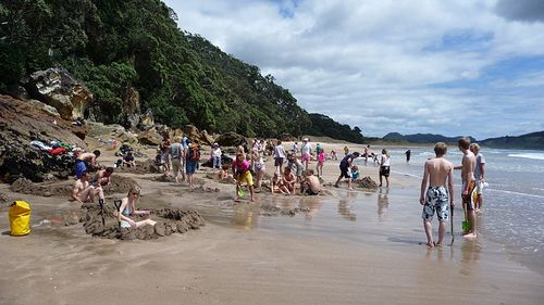 Hot Water Beach Coromandel New Zealand weird beaches