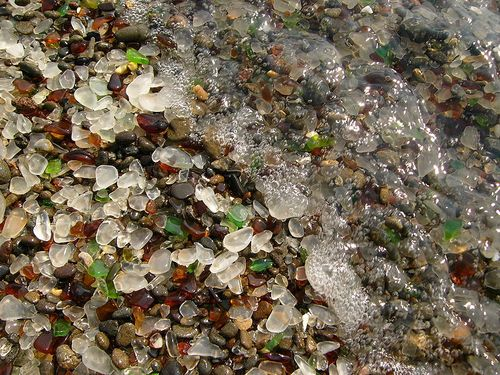 Glass Beach Fort Bragg California weird beaches