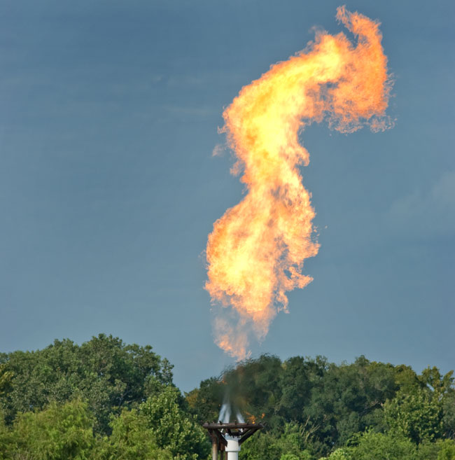Industrial-gas-flare