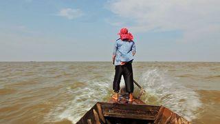 Sari math, a river changes course