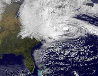 Sandy from space