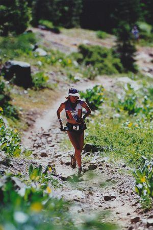 ultramarathoner Ann Trason running