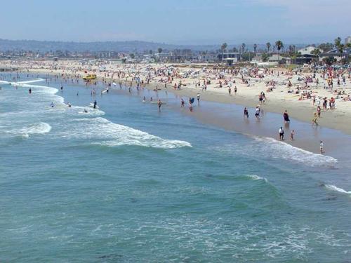 Beachgoers in San Deigo_EPA