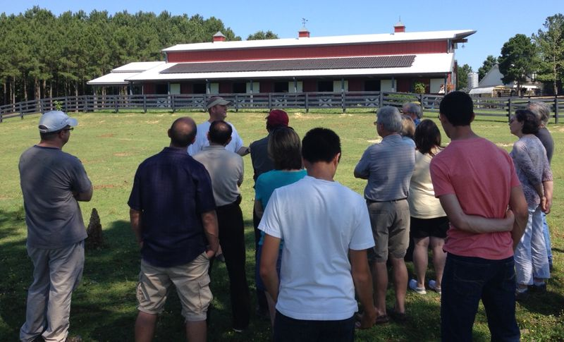 NC solar farm tour