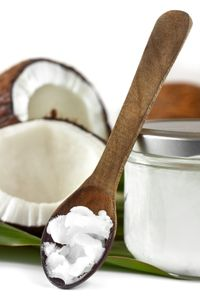 Coconut oil on spoon