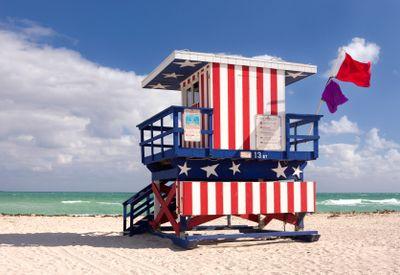 Lifeguard house in miami beach-florida