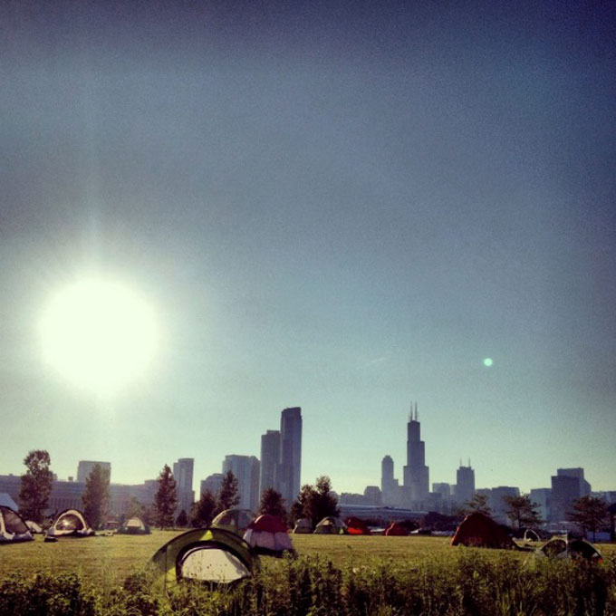 Camping-in-Chicago