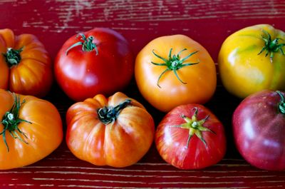 Ripe Heirloom Tomatoes