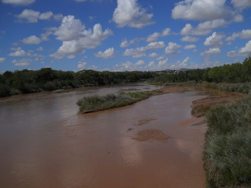 Flooded rio grande