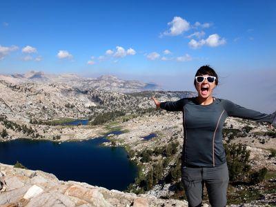 Trip organizer Alyssa Solis '13 at Silver Pass
