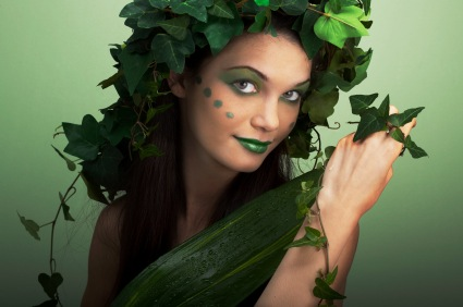 Woman dressed as mother earth