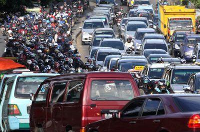 Rush hour in Jakarta