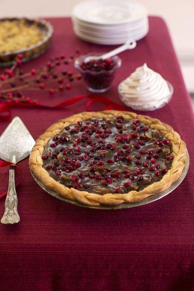 Pomegranate-Pecan Pie