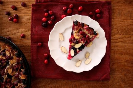 Cran-Cherry Impossible Pie