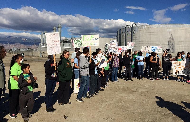 CA nat gas protest