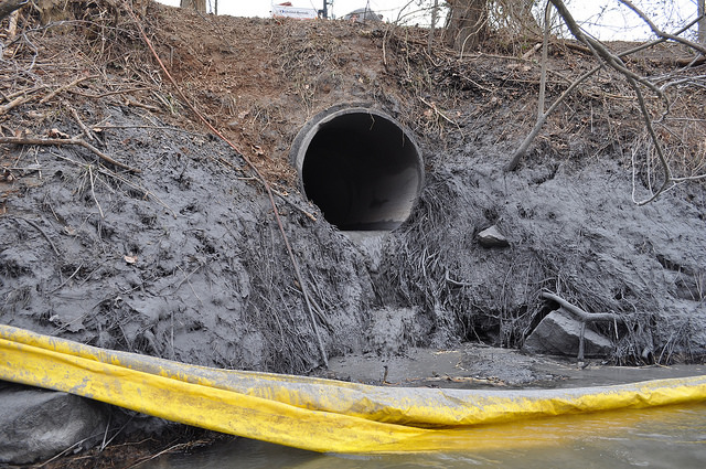 Dan River coal ash spill - courtesy Appalachian Voices