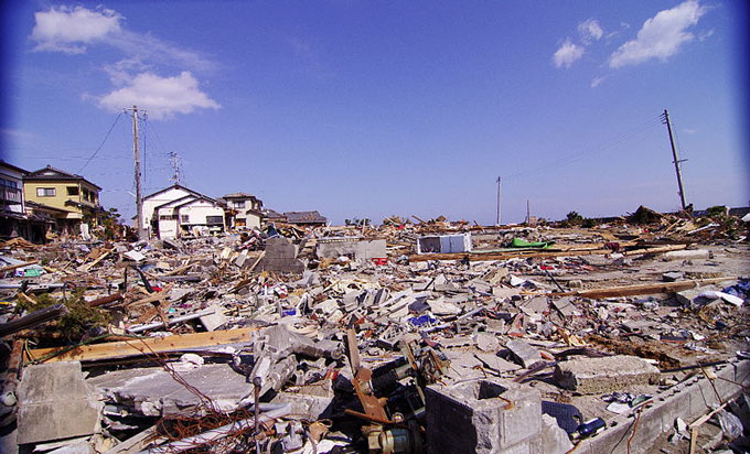 Fukushima-after-tsunami