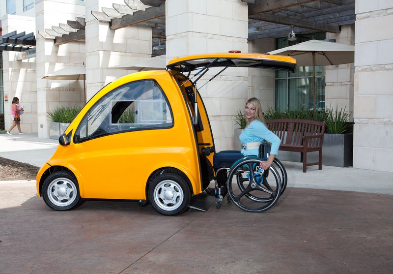 Kenguru, electric car designed for people in wheelchairs