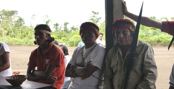 Achuar-villagers