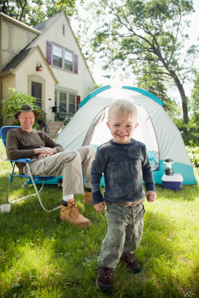 Staycation by camping in your home or yard
