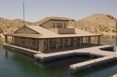 Cottonwood cove floating building