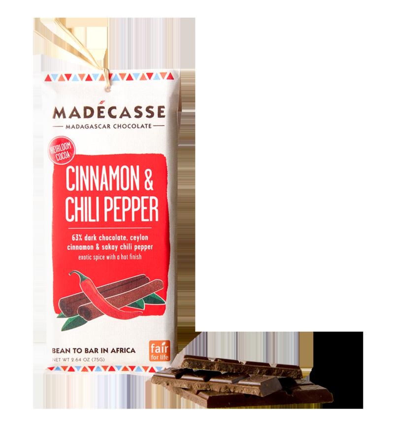 Madecasse Chocolate, cinnamon and chili pepper