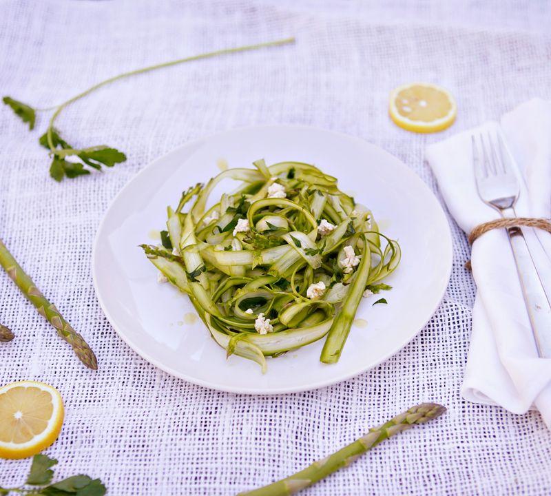 Shaved spring asparagus salad