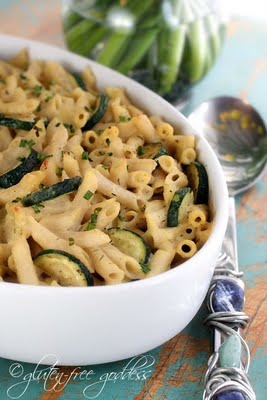Creamy penne pasta bake with zucchini