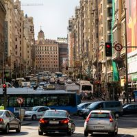Traffic congestion in Madrid