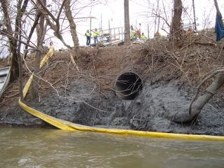Dan River coal ash spill - courtesy Appalachian Voices