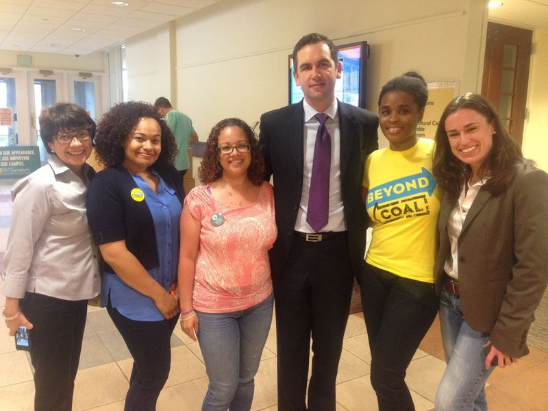 Mayor Fulop and activists