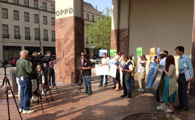 Omaha beyond coal presser