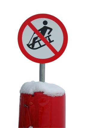 No_sledding_sign_istock_00000118856